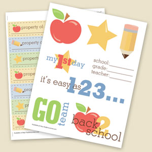 Back 2 School Sticker Sheets