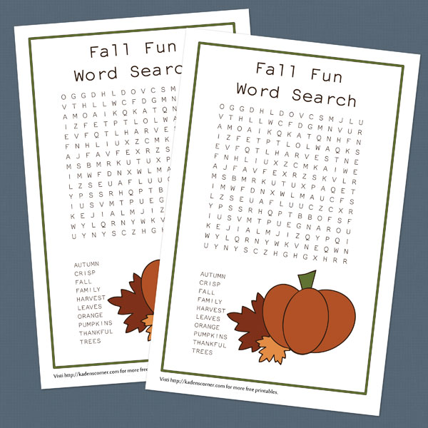 photograph relating to Fall Word Search Printable referred to as Printable Slide Term Seem