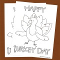 Free Turkey Day Coloring Page