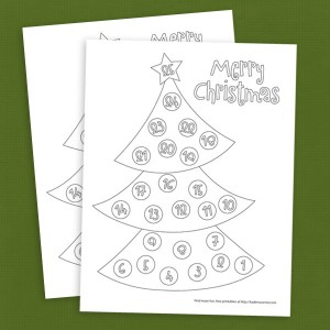 Free Christmas Tree Countdown Coloring Page Tree Countdown Coloring Page