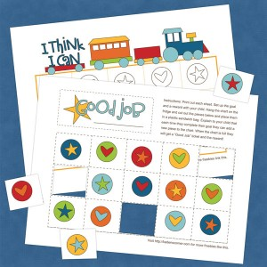 free printable train reward