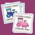 Free Printable Choo-Choo Train Valentine's