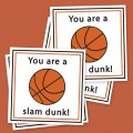 Free Printable Basketball Valentines