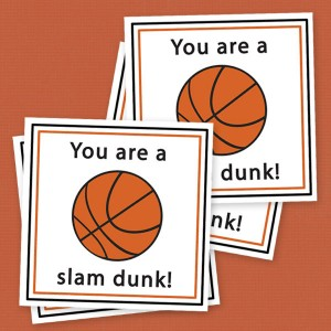 """Slam Dunk"" Basketball Valentines"