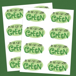 It's Not Easy Being Green St. Patrick's Day Stickers