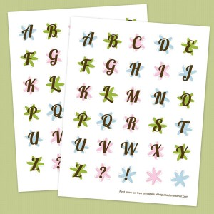Printable Spring Flower Alphabet