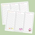 Set of 3 Super Cute To Do Lists
