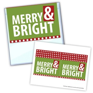 graphic about Christmas Bag Toppers Free Printable named Merry Vivid Xmas Deal with Bag Toppers