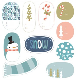 Printable Snowmen and Candy Cane Tags