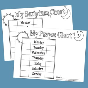 Printable Scripture & Prayer Charts