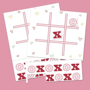 picture relating to Tic Tac Toe Valentine Printable referred to as Printable Valentines Tic Tac Toe Video game