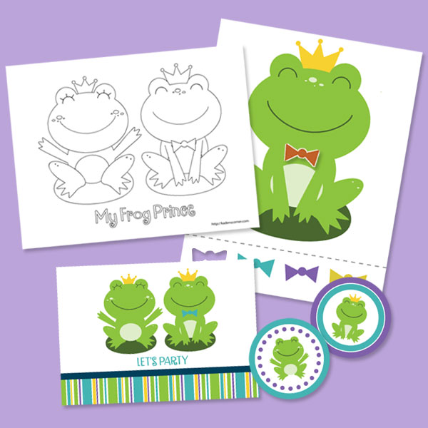 KC Frog Prince Party Favors