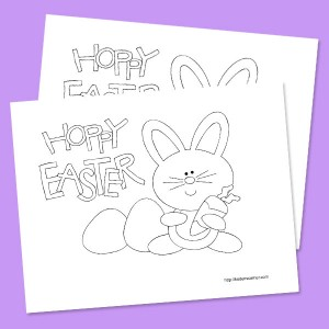 Hoppy Easter Coloring Page