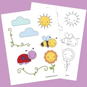 Printable Sunshine Summer Stickers