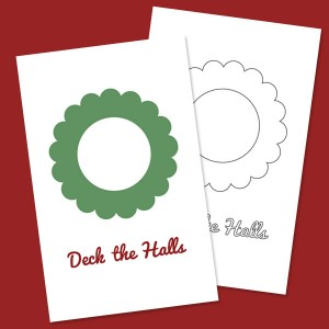 Printable Activity Wreath Card