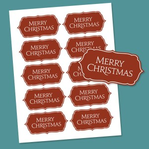 Printable Merry Christmas Tags