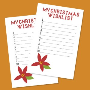 Printable My Christmas Wish List