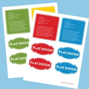 Printable Playdough Tags & Recipe