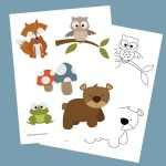 Forest Creatures Printable Stickers