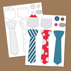 Pritable Dad Tie Sticker Set