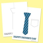 Father's Day Shirt & Tie Coloring Page