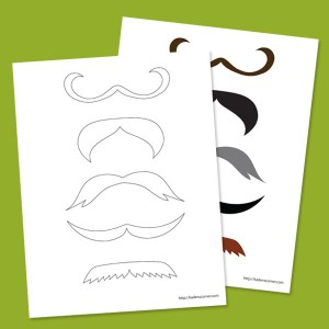 So Many Printable Mustaches