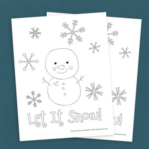 Free Winter Snowman Coloring Page